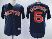 Mens Majestic Boston Red Sox #5 Garciaparra Blue Throwbacks Cool Base Jersey