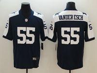 Mens Dallas Cowboys #55 Leighton Vander Esch Blue Thanksgiving Vapor Untouchable Limited Jersey