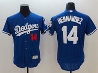 Mens Mlb Los Angeles Dodgers #14 Enrique Hernandez Blue Flex Base Player Jersey