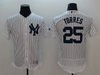 Mens Mlb New York Yankees #25 Gleyber Torres White Flex Base Player Jersey