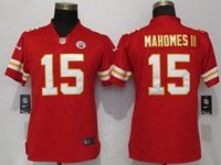 Women Nfl Kansas City Chiefs #15 Patrick Mahomes Ii Red 2017 Vapor Untouchable Limited Player Jersey