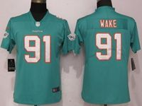 Women Nfl Miami Dolphins #91 Cameron Wake Green 2017 Vapor Untouchable Limited Player Jersey