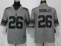 Mens Nfl New York Giants #26 Saquon Barkley Gray Vapor Untouchable Stitched Gridiron Limited Jersey