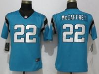 Women Youth Nfl Carolina Panthers #22 Christian Mccaffrey Blue Vapor Untouchable Limited Player Jersey