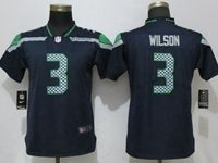 Women Nfl Seattle Seahawks #3 Russell Wilson Blue Vapor Untouchable Limited Player Jersey