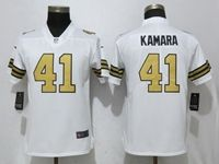 Women Youth Nfl New Orleans Saints #41 Alvin Kamara White Color Rush Limited Player Jersey
