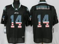 Mens Nfl New York Jets #14 Sam Darnold Black Usa Flag Fashion Elite Nike Jerseys