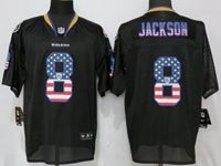 Mens Nfl Baltimore Ravens #8 Lamar Jackson Black Usa Flag Fashion Elite Nike Jerseys