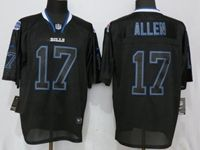 Mens Nfl Buffalo Bills #17 Josh Allen Black Lights Out Elite Nike Jersey