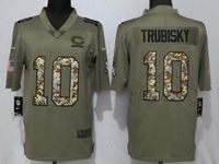 Mens Nfl Chicago Bears #10 Mitchell Trubisky Olive Camo Carson 2017 Salute To Service Limited Jersey