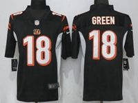 Mens Nfl Cincinnati Bengals #18 Aj Green Black Vapor Untouchable Limited Player Jersey