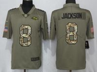 Mens Nfl Baltimore Ravens #8 Lamar Jackson Green Olive Camo Carson 2017 Salute To Service Limited Jersey