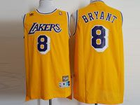 Mens Nba Los Angeles Lakers #8 Kobe Bryant Gold Hardwood Classics Jersey