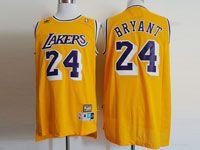 Mens Nba Los Angeles Lakers #24 Kobe Bryant Gold Hardwood Classics Jersey