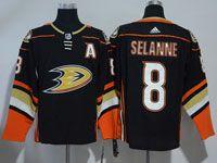 Mens Nhl Anaheim Mighty Ducks #8 Teemu Selanne Black Adidas Home Jersey