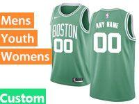 Mens Women Youth Nba Boston Celtics Boston Custom Made Green Icon Edition Nike Jersey