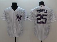 Mens Mlb New York Yankees #25 Gleyber Torres White 2018 Stars & Stripes Cool Base Player Jersey
