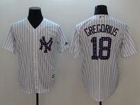 Mens Mlb New York Yankees #18 Didi Gregorius White 2018 Stars & Stripes Cool Base Player Jersey