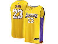 Mens Women Youth Nba Los Angeles Lakers #23 Lebron James Nike Swingman Gold Jersey