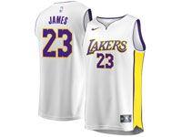 Mens Women Youth Nba Los Angeles Lakers #23 Lebron James Nike Swingman White Jersey