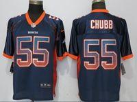 Mens Nfl Denver Broncos #55 Bradley Chubb Drift Fashion Blue Elite Nike Jersey