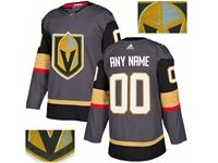 Mens Adidas Vegas Golden Knights Gray Rhinestones Home Current Player Jersey