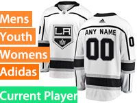 Mens Womens Youth Adidas Los Angeles Kings White Current Player Jersey
