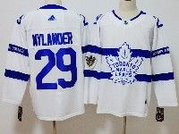 Mens Nhl Toronto Maple Leafs #29 William Nylander White Adidas 2018 Stadium Series Authentic Pro Player Jersey