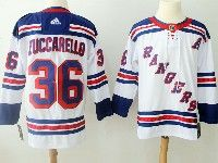 Mens Nhl New York Rangers #36 Mats Zuccarello White Adidas Jersey