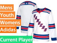 Mens Women Youth Adidas New York Rangers White Away Current Player Jersey