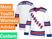Mens Women Youth Adidas New York Rangers Custom Made Whitt Away Jersey