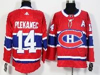 Mens Montreal Canadiens #14 Tomas Plekanec Red Home Adidas Jersey
