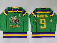 Mens Youth Nhl Anaheim Mighty Ducks Custom Made Green Movie Jersey