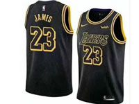 Mens Women Youth Nba Los Angeles Lakers #23 Lebron James Black Nike City Authentic Jersey