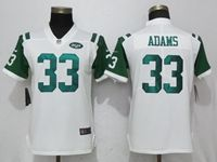 Women New York Jets #33 Jamal Adams White Vapor Untouchable Limited Player Jersey
