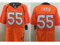 Mens Nfl Denver Broncos #55 Bradley Chubb Orange Elite Jersey