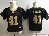 Kids Nfl New Orleans Saints #41 Alvin Kamara Black Game Jersey