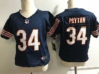Kids Nfl Chicago Bears #34 Walter Payton Blue Jersey