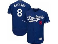 Mens Mlb Los Angeles Dodgers #8 Manny Machado Blue Flex Base Player Jersey