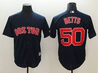 Mens Mlb Boston Red Sox #50 Mookle Betts Blue Cool Base Jersey