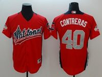 Mens Arizona Diamondbacks #40 Willson Contreras 2018 Mlb All Star Game National League Red Cool Base Jersey