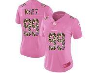 Women Houston Texans #99 Jj Watt Pink Camouflage Font Love Vapor Untouchable Limited Player Jersey