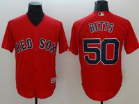 Mens Mlb Boston Red Sox #50 Mookle Betts Red Cool Base Jersey