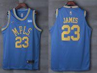 Mens Nba Los Angeles Lakers #23 Lebron James Light Blue Mpls Nike Jersey