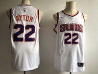 Mens Nba Phoenix Suns #22 Deandre Ayton White Home Nike Jersey