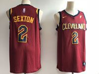 Mens Nba Cleveland Cavaliers #2 Collin Sexton Red 2018 Nba Draft Nike Icon Edition Swingman Jersey