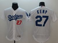 Mens Mlb Los Angeles Dodgers #27 Matt Kemp White Flex Base Player Jersey