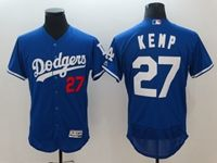 Mens Mlb Los Angeles Dodgers #27 Matt Kemp Blue Flex Base Player Jersey