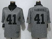 Mens Nfl New Orleans Saints #41 Alvin Kamara Gray Vapor Untouchable Stitched Gridiron Limited Jersey