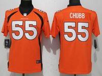 Women Nfl Denver Broncos #55 Bradley Chubb Orange Vapor Untouchable Limited Player Jersey